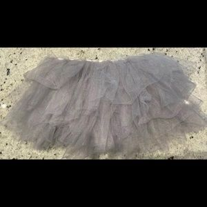 Dresses & Skirts - 5 Layered Tulle Tutu Skirt.  One Size. Silver